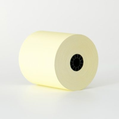 3″ x 165′ 1 Ply Canary Yellow Bond Paper (50 rolls/case)