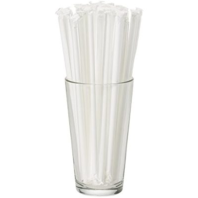 Plastic Straws – Clear in Paper Wrapper (12,000)