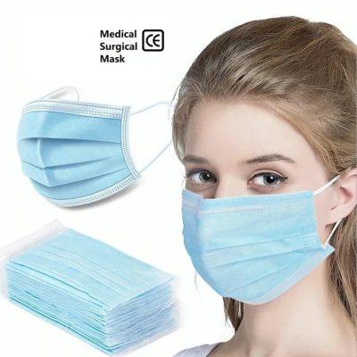 Blue Disposable Face Mask – 50/case
