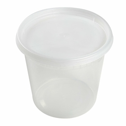 24 oz Clear Deli Container/Lid Combo (240)