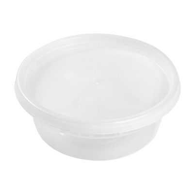 8 oz Clear Deli Container/Lid Combo (240)
