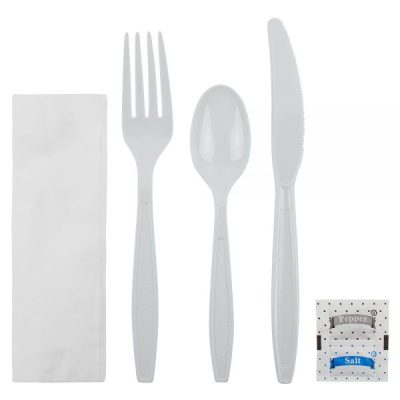Cutlery Kit – Heavyweight – White