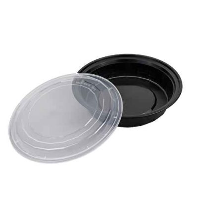 24 oz Round Black Bottom / Clear Lid – Unhinged