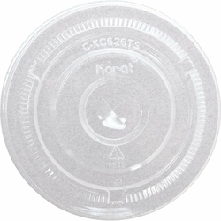 Flat Lid With Hole – 12-24 Oz.