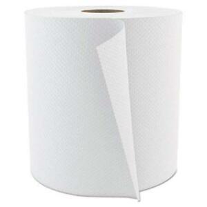 Hardwound Roll 800′ – White  Towel Paper 7.87X800 White