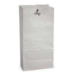 8 Lb Grocery Bag,  White